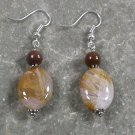 Bamboo Agate Jasper STERLING SILVER EARRINGS