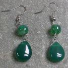 Green Agate STERLING SILVER EARRINGS