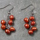 Fresh Water Bronze Pearl STERLING SILVER EARRINGS