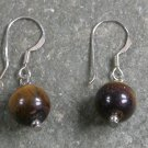Yellow Tiger Eye Sterling Silver Earrings