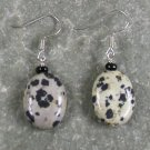 Dalmatian Jasper Sterling Silver Earrings
