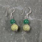Lemon Jade GreenAgate Sterling Silver Earrings