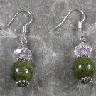 Unakite Quartz Sterling Silver Earrings