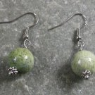 Green Coral Sterling Silver Earrings