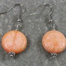 Orange Coral Sterling Silver Earrings
