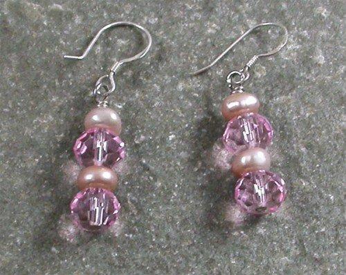 Quartz PearlSterling Silver Earrings