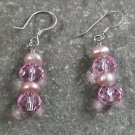 Quartz PearlSterling Silver Earrings