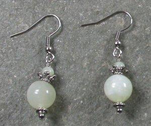 New Jade Sterling Silver Earrings