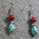 Turquoise Breciated Jasper Sterling Silver Earrings