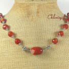 NATURAL RED CARNELIAN NECKLACE
