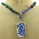 MING DYNASTY POTTERY SHARD SODALITE AGATE NECKLACE