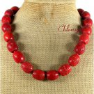 NATURAL LARGE RED SPONGE CORAL NECKLACE