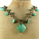 TURQUOISE CANDY JADE AUTUMN JASPER NECKLACE