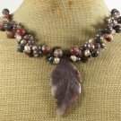 CHOCOLATE AVENTURINE COFFEE JASPER PEARLS NECKLACE