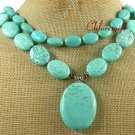 TURQUOISE 2ROW NECKLACE