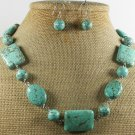 TURQUOISE NECKLACE/EARRINGS SET