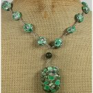 GREEN AFRICAN TURQUOISE NECKLACE