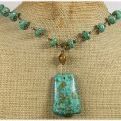 BLUE MOSAIC TURQUOISE NECKLACE