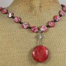 RED CORAL AFRICAN TURQUOISE NECKLACE