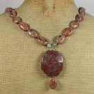 BROWN SESAME JASPER NECKLACE