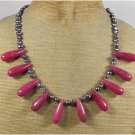 PINK TURQUOISE & FRESH WATER PEARLS NECKLACE