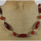 GENUINE RED AGATE NECKLACE