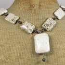 WHITE TURQUOISE & FRESH WATER PEARLS NECKLACE
