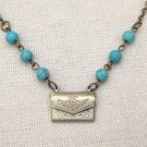 ENVELOPE LOCKET TURQUOISE NECKLACE