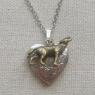 HEART LOCKET PENDANT & WOLF NECKLACE