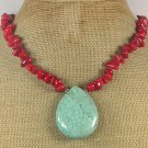 Turquoise Red Coral Necklace
