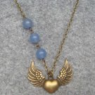 WING PENDANT and BLUE JADE NECKLACE
