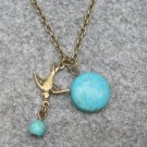 SWALLOW & TURQUOISE NECKLACE