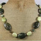 Handmade RHYOLITE & BUTTER JADE NECKLACE