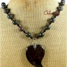 Handmade NATURAL CHERRY JASPER NECKLACE