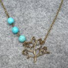 Handmade TREE & TURQUOISE NECKLACE
