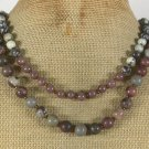 Handmade PICASSO JASPER CHOCOLATE AVENTURINE 2ROW NECKLACE
