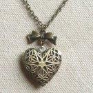 Handmade HEART PENDANT & BOWTIE NECKLACE