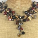 Handmade AGATE PICTURE JASPER FRESH WATER PEARLS NECKLACE