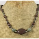 Handmade IMPERIAL JASPER RUTILATED JASPER NECKLACE
