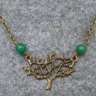 Handmade TREE PENDANT & GREEN JADE NECKLACE