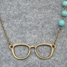 Handmade GLASSES & TURQUOISE NECKLACE