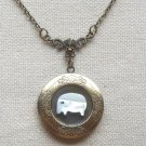 Handmade  LOCKET PENDANT WITH SHELL ELEPHANT NECKLACE