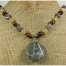 Handmade FANCY JASPER TIGER EYE YELLOW JADE NECKLACE