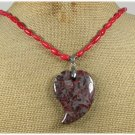 Handmade BACCIATED JASPER & RED CORAL NECKLACE