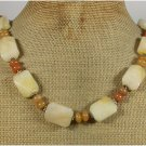Handmade YELLOW HONEY JADE NECKLACE