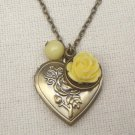 Handmade  FLOWER LOCKET PENDANT BRANCH FRESH WATER PEARLS NECKLACE