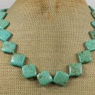 Handmade TURQUOISE Square NECKLACE