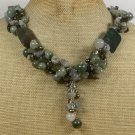 Handmade  FANCY JASPER RUTILATED JASPER LABORADITE NECKLACE
