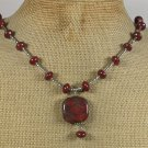 Handmade NATURAL BACCIATED JASPER NECKLACE