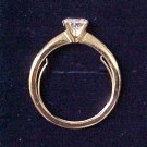Sparkling CZ Solitaire Ring in Giftbox Large